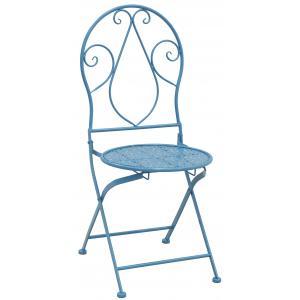 Photo MCT1250 : Chaise pliante en métal bleu