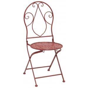 Photo MCT1260 : Chaise pliante en métal rouge