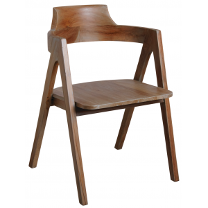 Photo MFA3200 : Patinated grey teak armchair