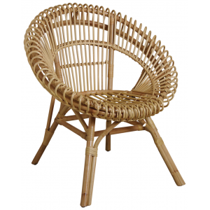 Photo MFA3220 : Natural rattan armchair