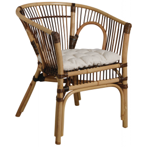 Photo MFA3240C : Croco rattant armchair