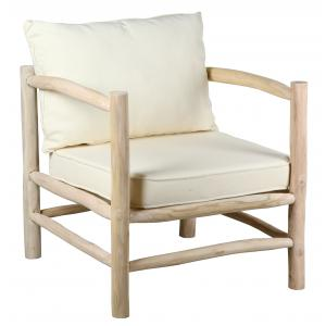 Photo MFA3280C : Natural teak branches Arthur armchair