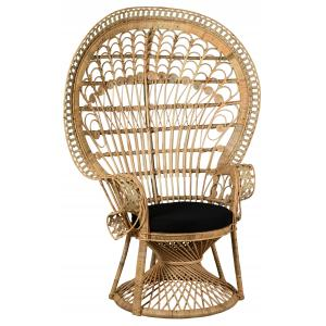 Photo MFA3370C : Natural rattan peacock chair