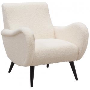 Photo MFA3550 : Fauteuil design Mouton en polyester et bois