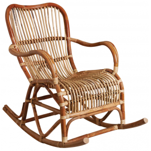 Photo MRO1200 : Rocking chair en rotin brut