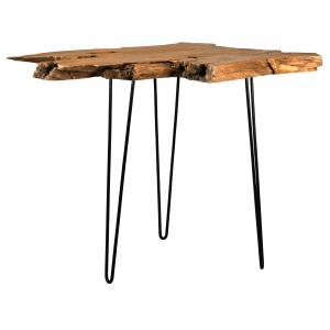 Photo MTA1680 : Natural teak and metal high table