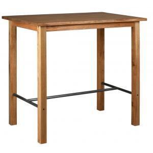 Photo MTA1720 : Table haute en bois mindi et métal