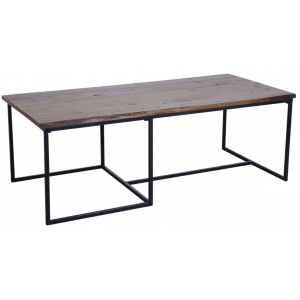 Photo MTB1600 : Wood and metal coffee table