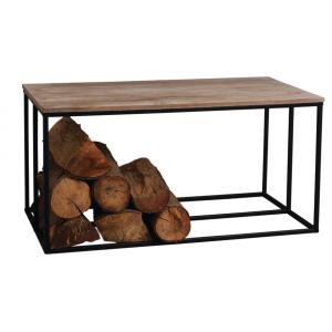 Photo MTB1620 : Table basse porte bûches en pin