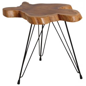 Photo MTB1630 : Tree slice teak table