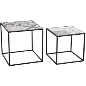 Photo MTB164S : Black metal tables