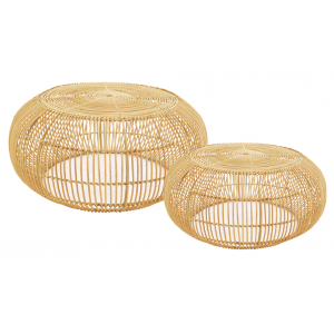 Photo MTB166S : Natural rattan tables