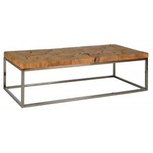 Photo MTB1730 : Teak wood organic rectangular coffee table