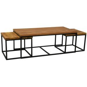 Photo MTB187S : Table basse modulable en bois recyclé