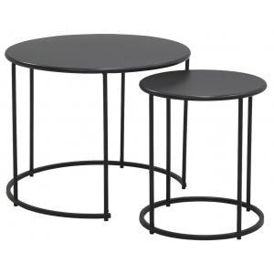 Photo MTB188S : Tables basses en métal teinté noir