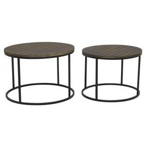 Photo MTB189S : Tables basses en métal et bois