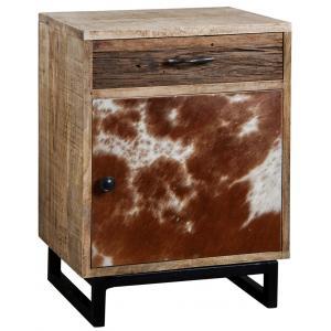 Photo MTN1220 : Table de nuit peau de vache