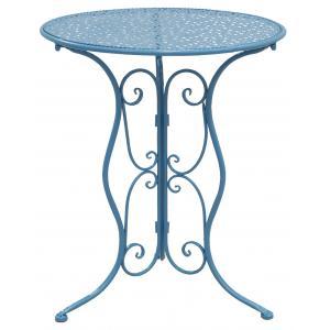 Photo MTT1280 : Table pliante en métal bleu