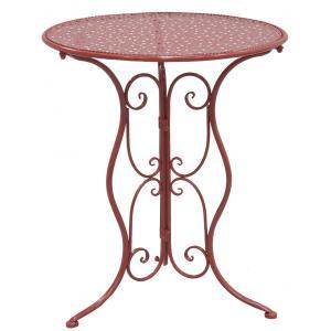 Photo MTT1300 : Table pliante en métal rouge