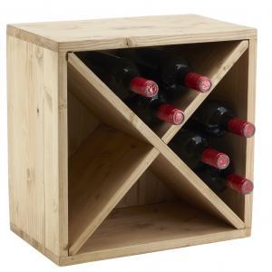 Photo NCA1400 : Casier à bouteilles en épicéa