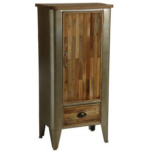 Photo NCM3270 : Armoire en bois et métal