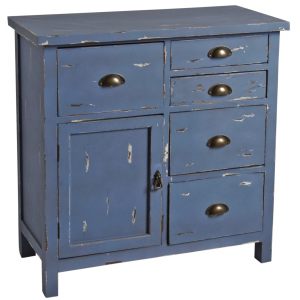Photo NCM3280 : Commode en bois bleu antique
