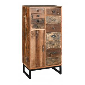 Photo NCM3500 : High recycled wood and metal chest of drawers