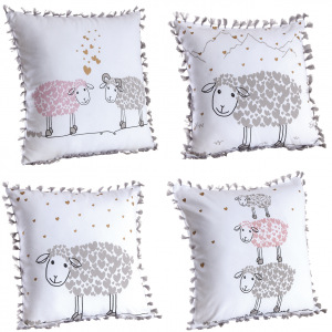 Photo NCO2480 : Coussin en coton Mouton