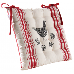 Photo NCO2500 : 100% cotton sitting cushion Chicken