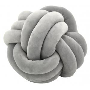 Photo NCO2571 : Coussin noeud en velours gris