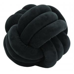 Photo NCO2572 : Coussin noeud en velours noir