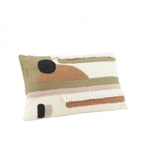 Photo NCO2650 : Coussin en coton motif abstrait