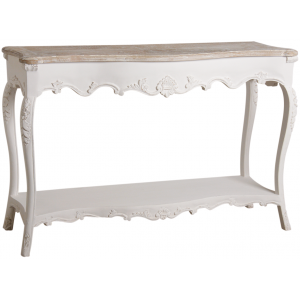 Photo NCS1400 : Console en manguier blanc