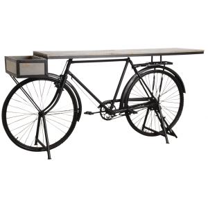 Photo NCS1430 : Console vélo avec plateau bois