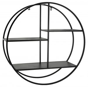 Photo NEM1370 : Round black metal shelves