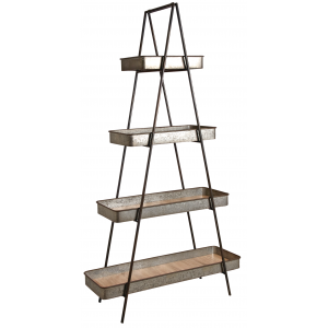 Photo NET2450 : Metal folding shelves 4 trays