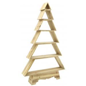 Photo NET2530 : Pine wood christmas tree shelves burnt finish