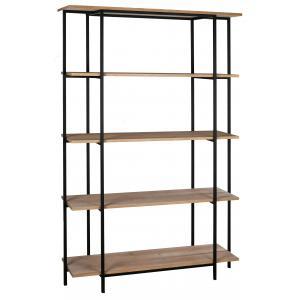 Photo NET2570 : Mdf fir wood vener and metal shelf, 5 shelves