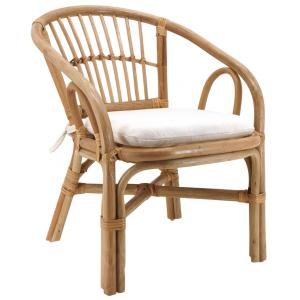 Photo NFE1490C : Natural rattan children's armchairs