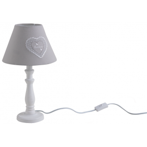 Photo NLA2120 : Lampe en bois coeur gris