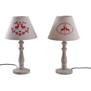 Photo NLA2220 : Lampe cerfs en bois et coton