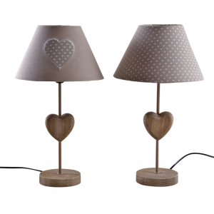 Photo NLA2240 : Lampe coeur en bois