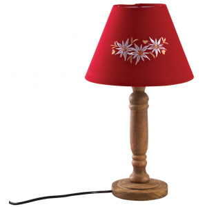 Photo NLA2260 : Lampe en bois edelweiss