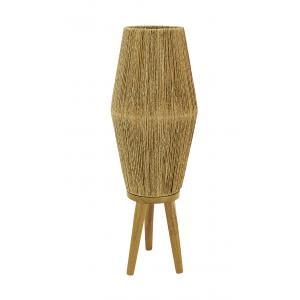 Photo NLA2440 : Lampe en jute et pied en bois