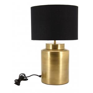 Photo NLA2560 : Lampe en métal vieilli et coton