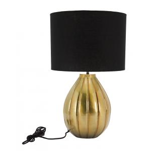 Photo NLA2570 : Lampe en métal brossé et coton