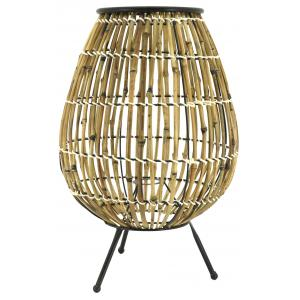 Photo NLA2660 : Natural and stained rattan lantern
