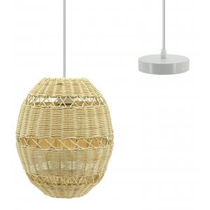 Photo NLA2771 : Natural rattan ball lamp and metal structure