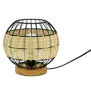 Photo NLA2800 : Natural rattan and metal lamp