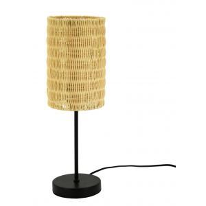 Photo NLA2810 : Natural rattan lamp with metal leg